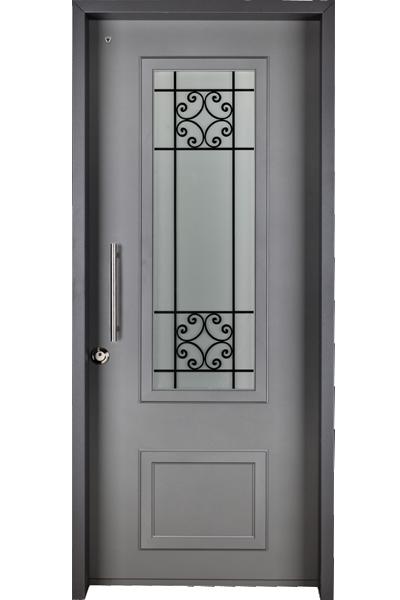 למעלה דלת כניסה מפלדה - צילינדר לוקסיס - דגם בולוניה I פלדלת רב בריח FN-02