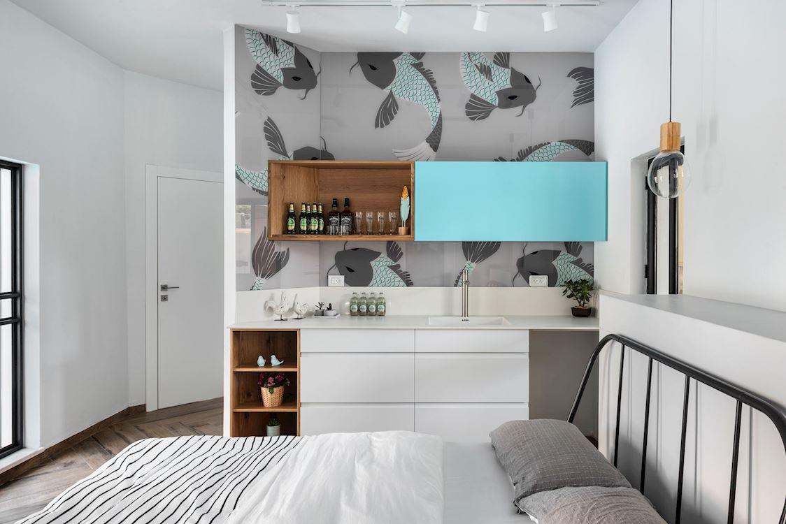 עיצוב חדר שינה בסגנון מיוחד. קרן סלינס סייג