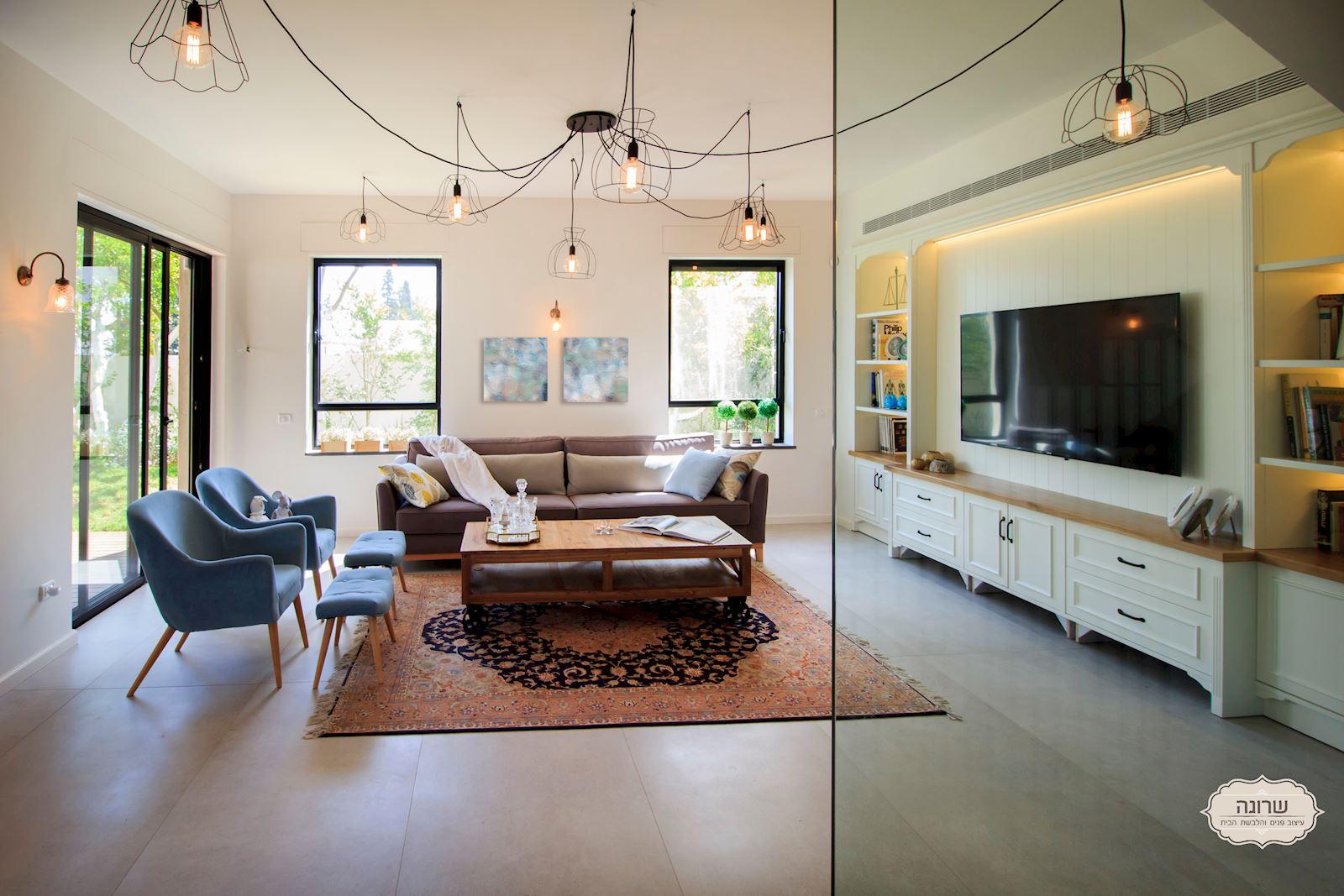 פרוייקט עיצוב מיוחד בסלון הבית